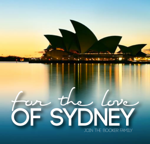 Join the Bookers For the Love of Sydney