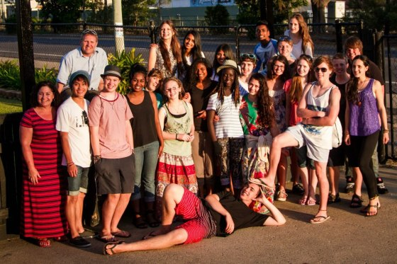 Heatherton High School students at Youth Adventures in Townsville.