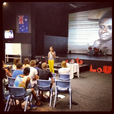 Adriel teaching on Youth Adventures at YWAM Townsville.