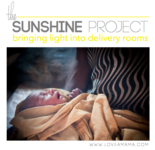 The Sunshine Project - Bringing light into the delivery room. Help a mama in Papua New Guinea this Mothers Day by giving a gift to your own mom.
