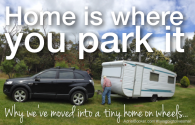Home is where you park it - living in a caravan:camper. Love this tiny home! -AdrielBooker.com