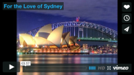 For the Love of Sydney vision video